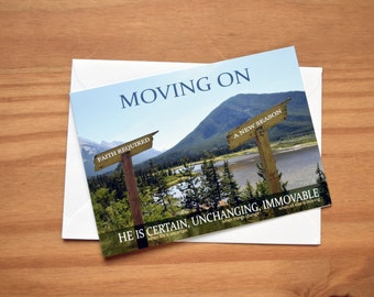 Moving On Mountains Card (A6 size)