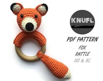 CROCHET PATTERN rattle fox