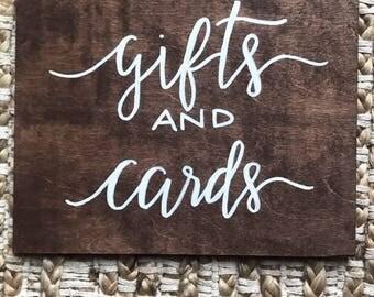Wedding Gift & Card Sign