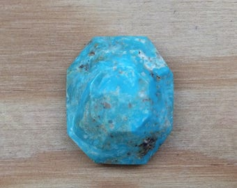 Faceted Turquoise Cripple Creek Colorado Natural Untreated Blue Faceted Loose Wholesale Pricing Natural Gemstone Unusual HUGE Cut A386