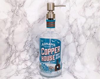 Adnams Copper House Gin Bottle Soap Pump Dispenser Upcycled Bottle