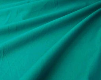 "Teal Green Cotton Fabric, Dress Fabric, Quilt Material, Home Accessories, 42"" Inch Apparel Fabric By The Yard ZBC7557H"