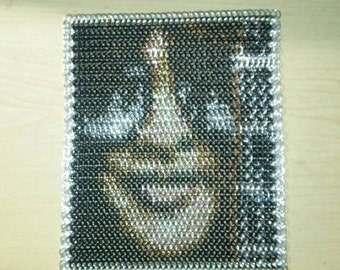 Framed Slash Art in Chainmaille