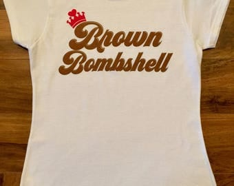 Brown Bombshell True to Size 100% Cotton Soft Style Women's T-Shirt