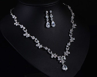 CZ Jewelry Set, Cubic Zirconia Wedding Jewelry (CZ012085)