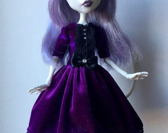 Veloure Dress with Lace For Monster High doll!