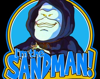 """80's Cartoon Classic The Real Ghostbusters """"I'm The Sandman!"""" custom tee Any Size Any Color"""