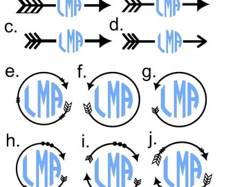 Arrow Monogram Decal | Yeti Decal | Arrow Monogram Sticker