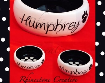 Personalised small pet bowl