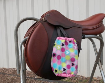 Custom Pink Heart Stirrup Covers - Pink Heart Stirrup Covers