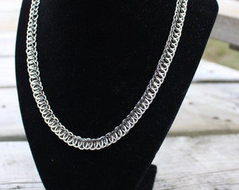 Half Persian Necklace - Silver/ Gunmetal