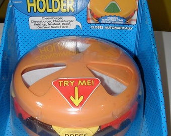 Talking Cheeseburger Condiment Holder