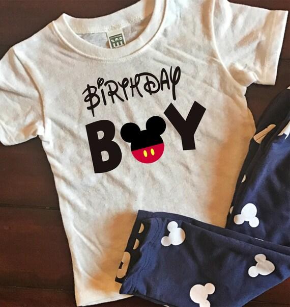 Mickey Mouse Birthday Boy Shirt Kids Graphic Tee Disney