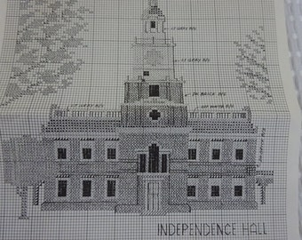 Independence Hall Counted Cross Stitch