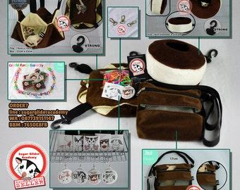 Sugar Glider Cage Set Pouch Mouse Hamster Squirrel PREMIUM Delicious Choco by SGA (+Many Bonus)