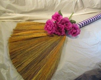 Undecorated Wedding Jump Broom  - Jump the Broom at Your Wedding  - P/W