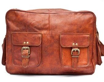 Travel Shoulder Bag Full-Grain Leather