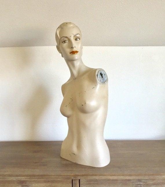 Vintage Mannequin; Female Mannequin Torso with Head; Table Top Mannequin; Mannequin Bust; Vintage Female Mannequin; Mannequin Upper Body