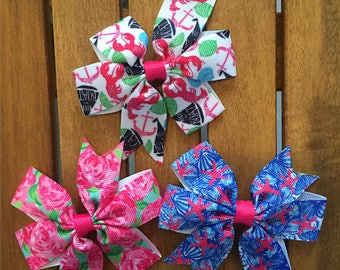Lilly Inspired Hair Bow with Clip