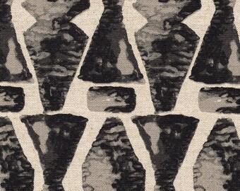Round Tablecloth Juju Geometric Granite Black