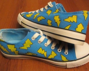 Lightning bolt shoes blue