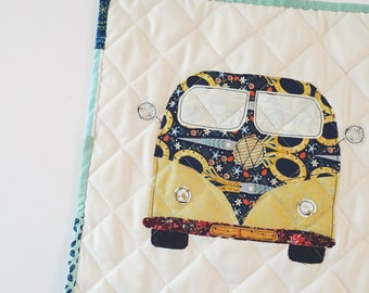 Quilted VW Bus Wall Hanging