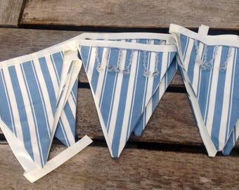Beautiful stripped bunting with crystal trim detail