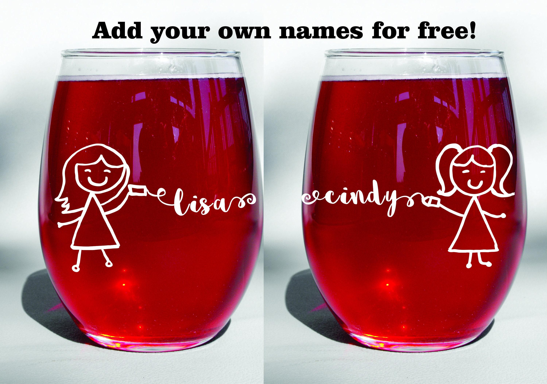 Best Dishwasher For Wine Glasses Deep Engraved Dishwasher Safe Long Distance Friendship Bff Best