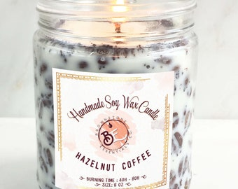 Hazelnut Coffee Scented Soy Candles