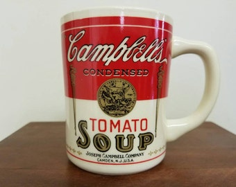 Retro Campbell's Tomato soup mug. 60's/70's. perfect condition . Cup of Soup