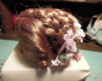 Vintage Doll Wig / Kemper Doll Wig / Emily Wig / Pink floral Decor / Size 10-11 / Original Box