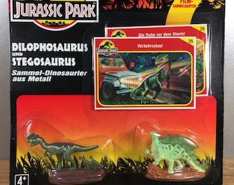 Jurassic Park Dilophosaurus and Stegosaurus Die Cast