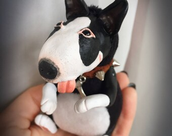 Reserved for Toni!!! Price with discount. Black bullterrier