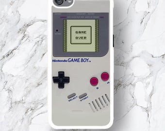 iPod Touch 6 Game Over Design Case, Retro Game Boy Console Cover for geeks, Funny ipod 6th Gen 6G iTouch 6 5th 4 Cover, Hilarious for Kidult