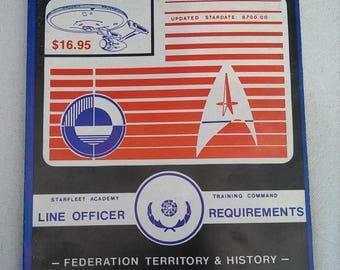 1987 first edition star trek line officer requierment training book