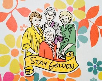 original Golden Girls stickers, geekery, gifts for geeks, illustration