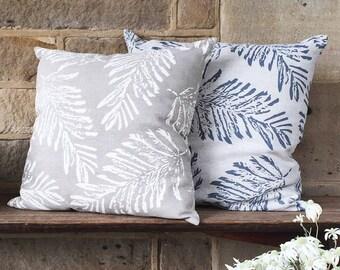 Linen Fern cushion cover