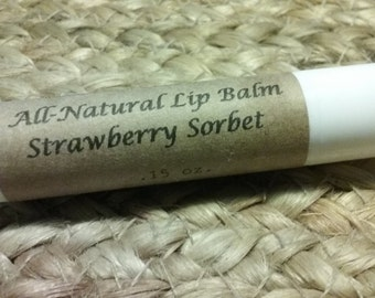 Strawberry Sorbet - All natural lip balm