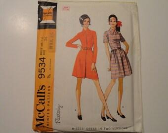 McCalls Vintage 1968 Misses Dress Size 14 Bust 36