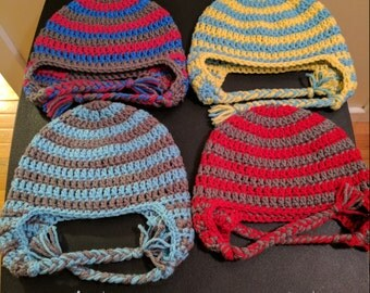 Crochet Striped Hat (1-3 yrs)