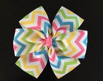 Easter Hair Bow, Pinwheel Hair Bow, Girls Hair Clip , Girls Hair Bow, Pinwheel Hair Clip,Easter Boutique Hair Bow