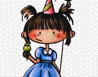 Lucy's Birthday Digital Stamp by Sasayaki Glitter