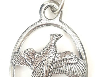 Pheasant Bird Handcrafted from Solid English Pewter In the UK Key Ring