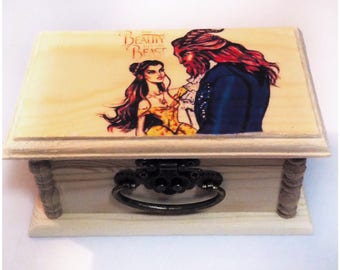 Beauty and the Beast,keepsake box,Kids Gift, Disney, Disney gift, gifts for kids, movies,Unique gift, Boys gift, girls gifts, birthday Gift,