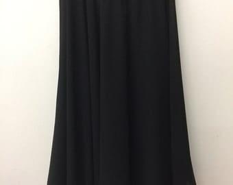 Knee Length Chiffon Ballet Skirt in Black (Hook and Eye Closure)