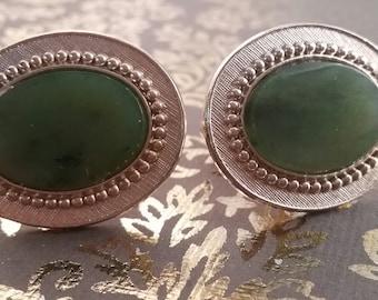 Large Jade Cufflinks