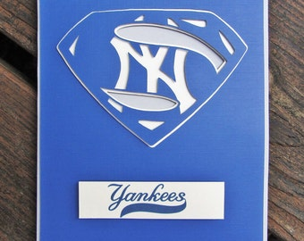 New York Yankees Card - Super New York Yankees Fan, Baseball Team Card
