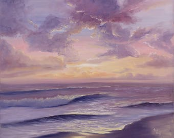 Painting Ocean Waves, Ocean Painting, Beach, Waves, Ocean Art, Seascape, Ocean, Coastal Landscape