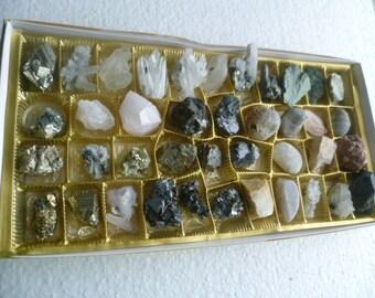 Rocks and minerals, crystals, mineral specimen set 3, Bulgaria, 40 pcs,