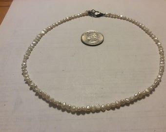"Vintage small pearl 16"" necklace"